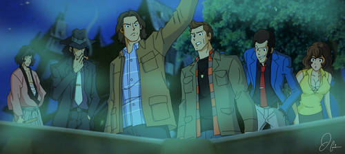 Supernatural and Lupin III Corssover