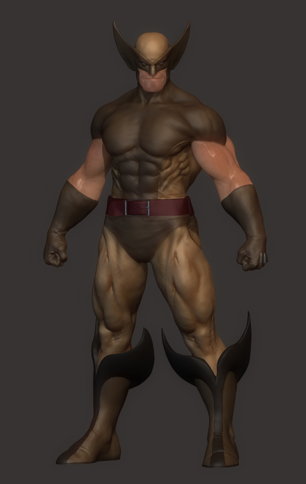 Wolverine zbrush by acornsam