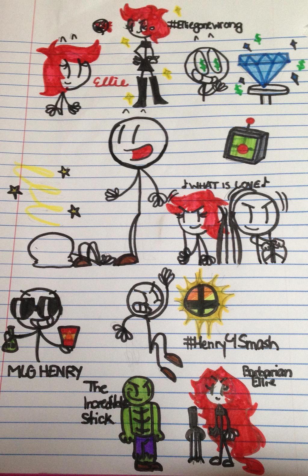 how to draw henry stickman