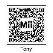 3DS - Tony Mii QR Code by TuffTony