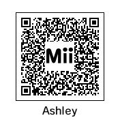 3DS - Ashley Mii QR Code by TuffTony