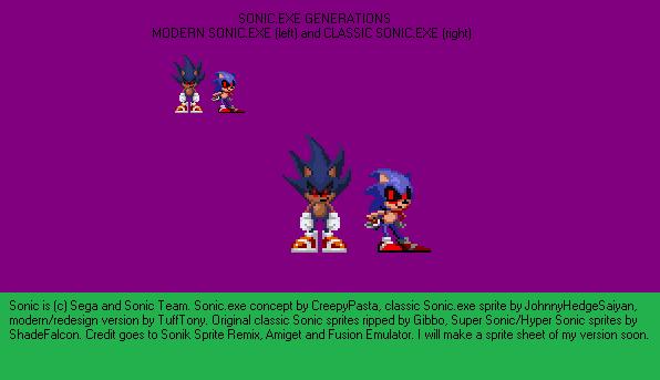 Sonic Exe Sprite Sheet – Dibujos Para Colorear