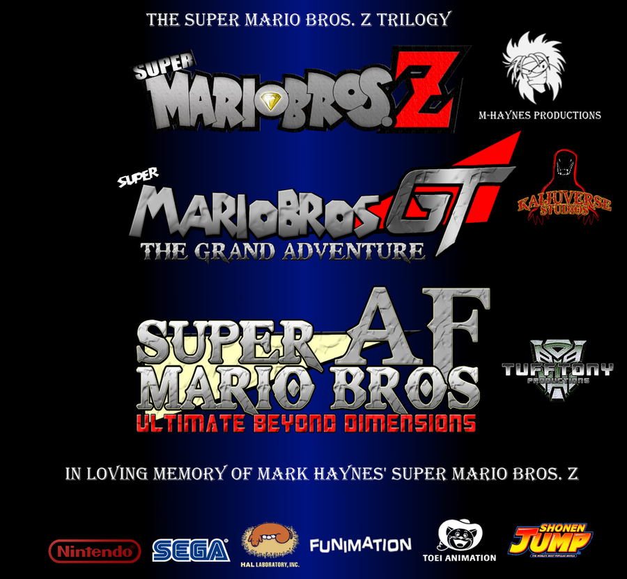 the super mario bros z trilogy poster by tufftony on