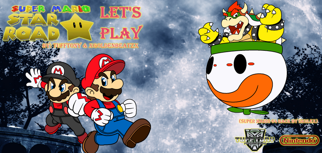 Super Mario Star Road - Co-Op Let's Play Poster V2 by