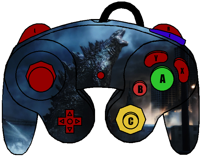 gamecube controller template by thewolfbunny on deviantart