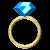 Golden Ring with Saphire by SchnuffelKuschel