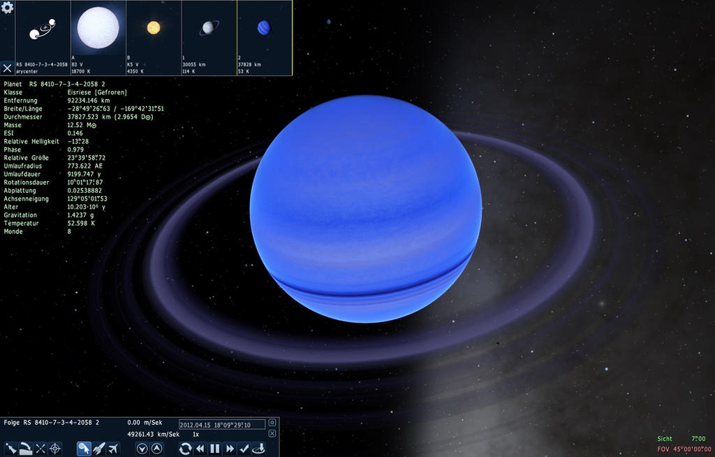 Space Engine Gas Planet With Ring System by ...