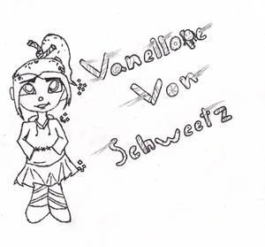 Vanellope Von Schweetz uncolored