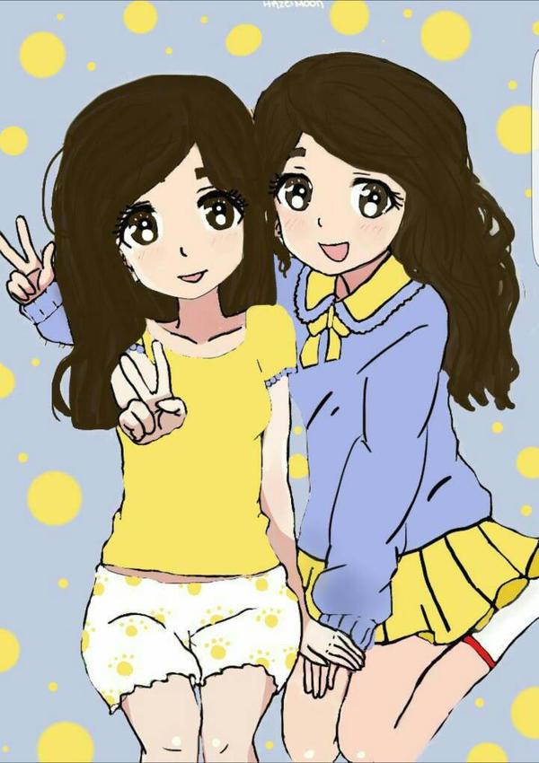 Best Friends Digital Drawing  by xxhazelmoonxx