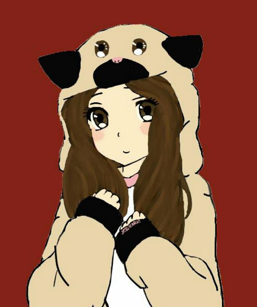 Girl In Pug Onesie  by xxhazelmoonxx