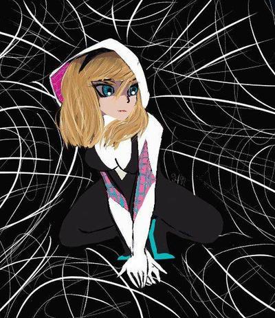 Spider Gwen  by xxhazelmoonxx