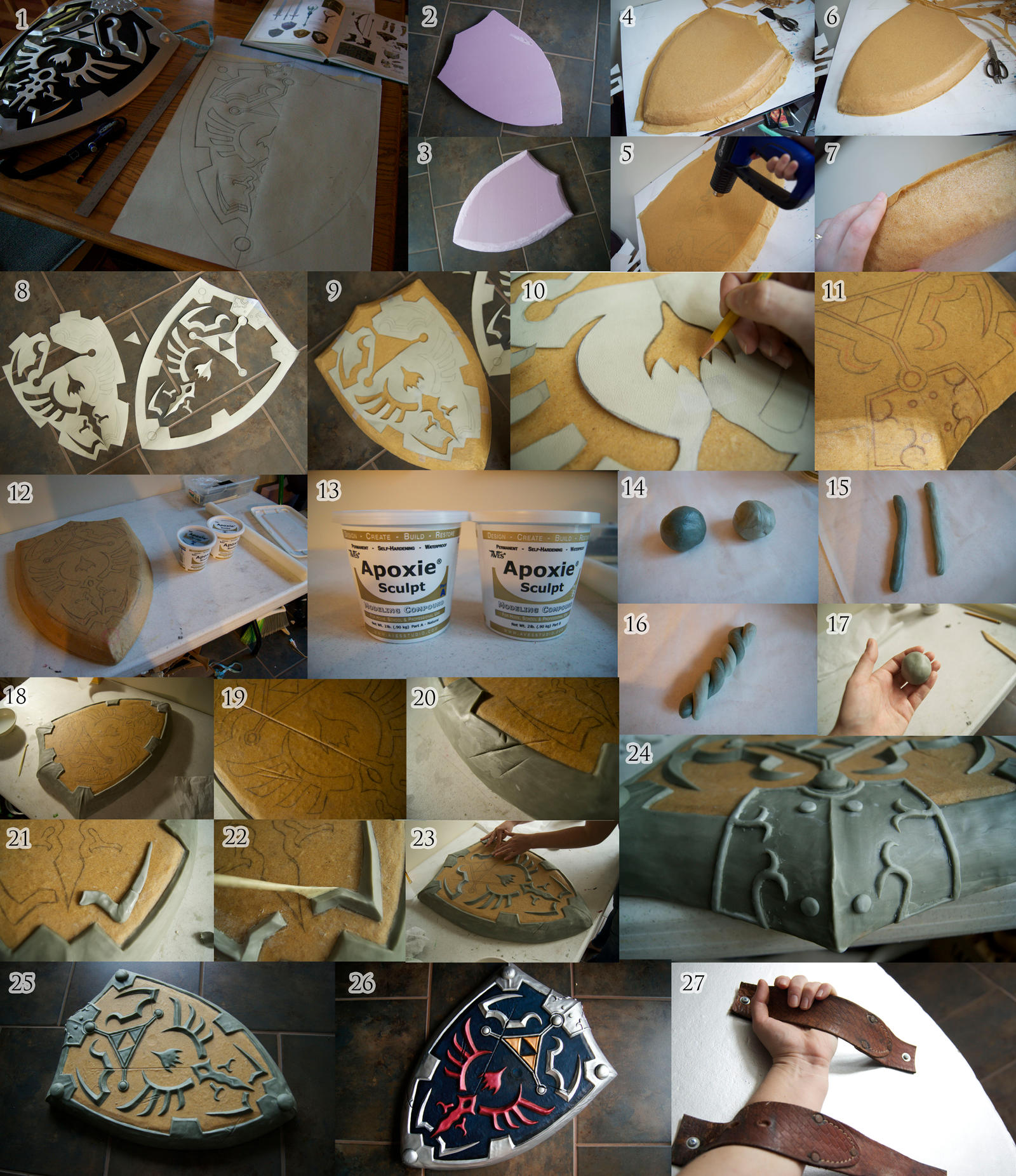 Hylian Shield Tutorial by TerminaCosplay on DeviantArt