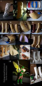 Big Cosplay Feet Tutorial: Scyther Boots