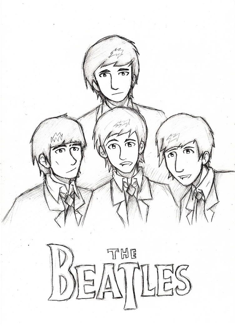 The Beatles - Sketch by YoGurei