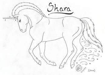 Shara-Moonglow Lineart by SaraChristensen