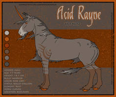Reference Sheet: Acid Rayne by SaraChristensen