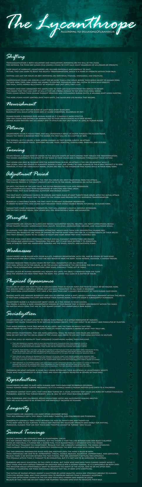 Lycanthropes - Declassified by SaraChristensen