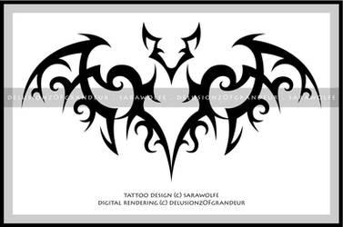 Digital Revamp: Bat Tattoo by SaraChristensen