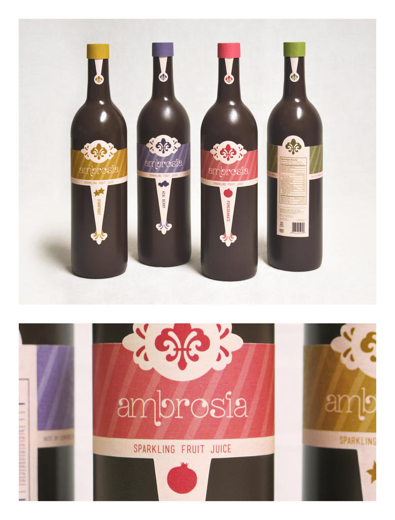 Ambrosia Drink Packaging by SaraChristensen