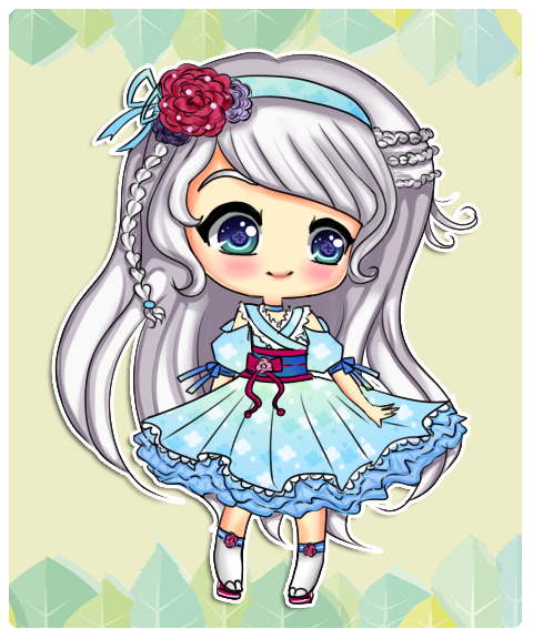 : Adopt : #08 Sweet Flower Girl OPEN by ichiipantsu
