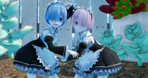 MMD Ram and rem ~ Space fantasy + downloads