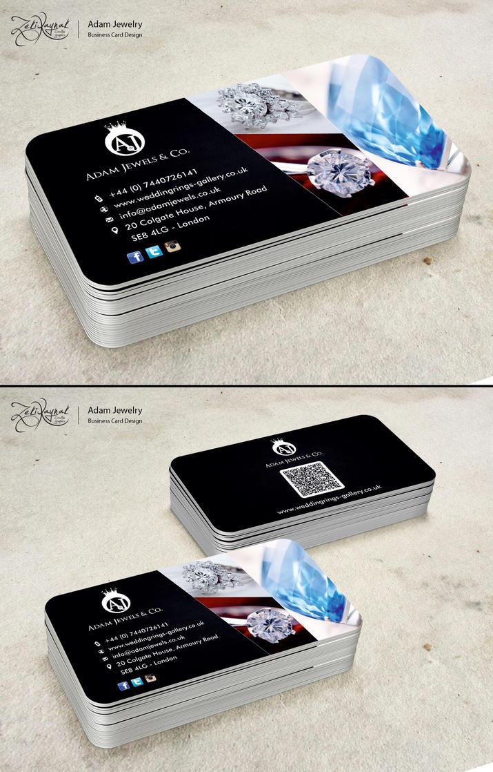 Adam Jewelry Business Card Design by zekikaynak on DeviantArt