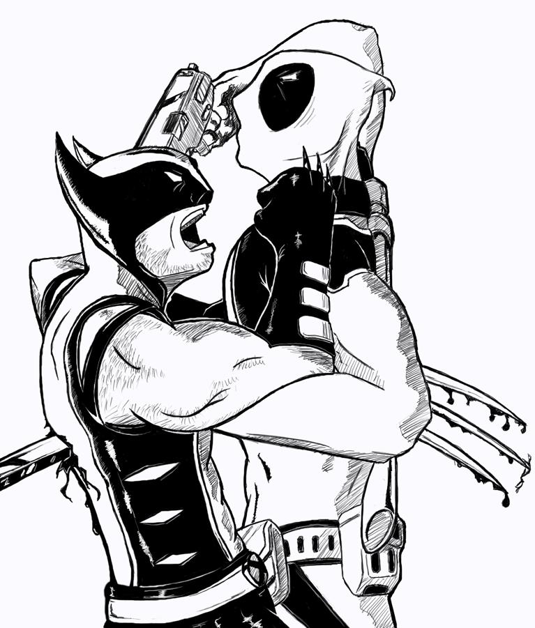 Wolverine Vs Deadpool by Wataru2001