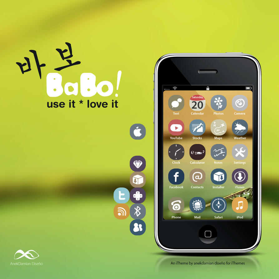 Babo - iPhone Theme by anekdamian