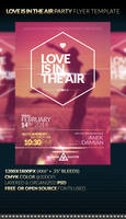 LOVE IS IN THE AIR - Party Flyer Template