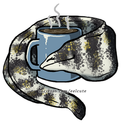Snowflake Eel Loves Coffee by EelCute