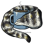 Snowflake Eel Loves Coffee by EelCute