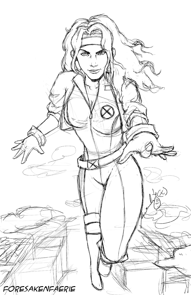 Rogue Sketch by ForesakenFaerie