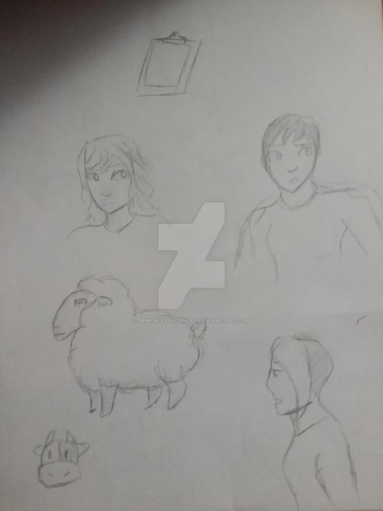 Sketch dump by Demon-eyed-Angel