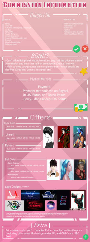 COMMISSIONS{OPEN!}HOLIDAY DISCOUNTS[check discr]!