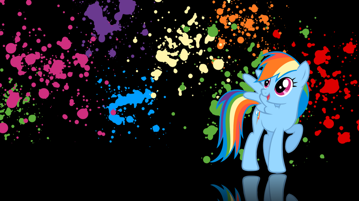 Rainbow Dash wallpaper v.1 by XVanilla-TwilightX