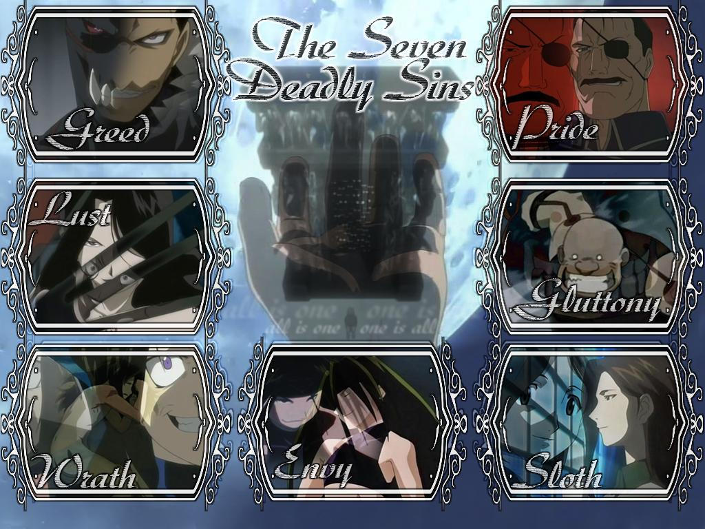 The 7 sins of FMA by mizzotizzo on DeviantArt