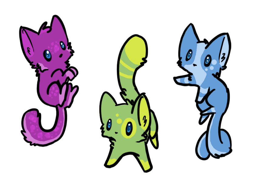 Chibi Cats Adoptables [Closed] By Fromage Bleu ...