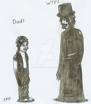 Closet Monster (child form) meets the Babadook
