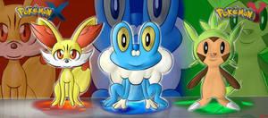 .: Pokemon X and Y starter pokemon :.