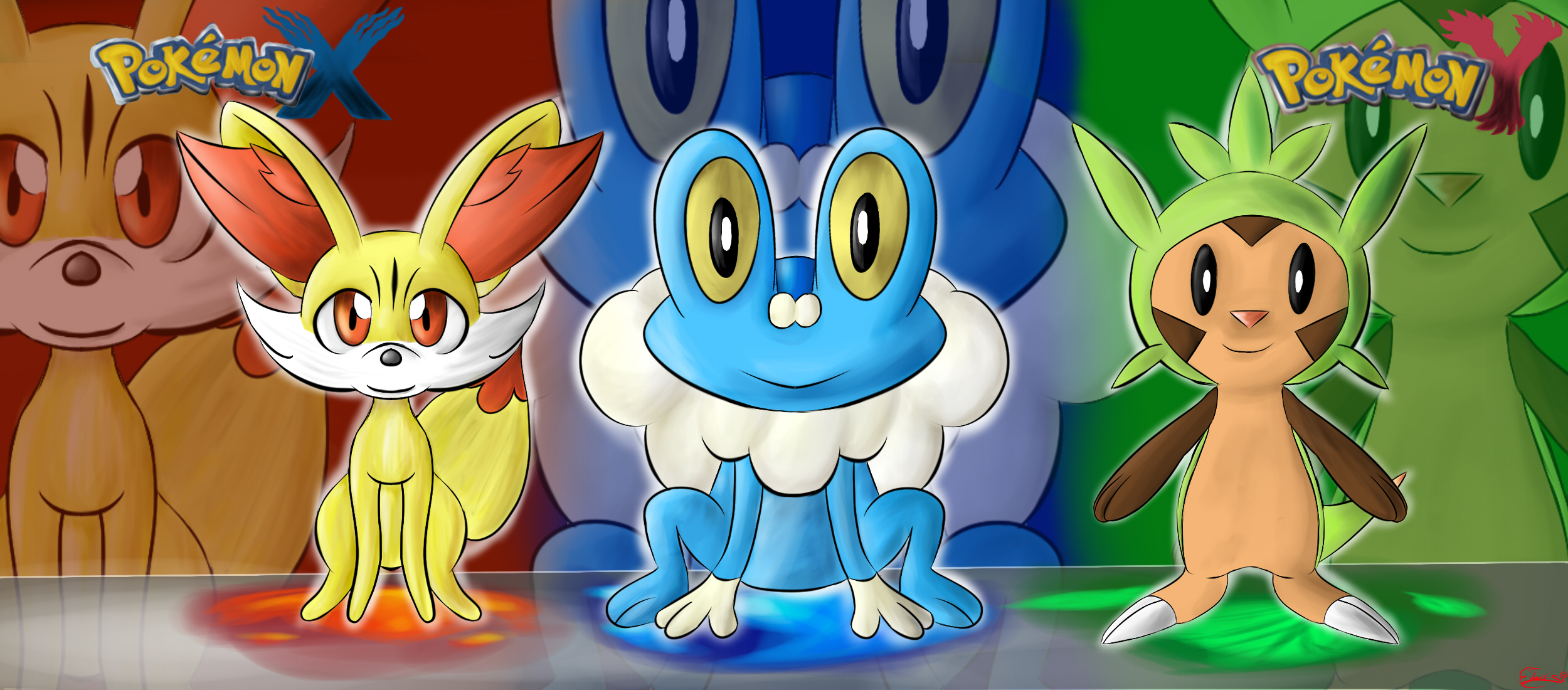 .: Pokemon X and Y starter pokemon :. by lifegiving