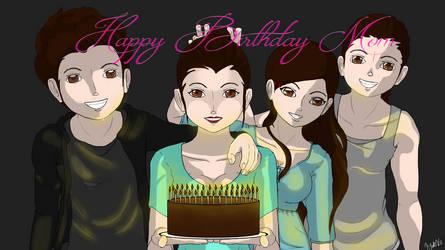 Happy Birthday Mom by KyokoVs