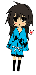 Chibi Mazi Kimono lineart
