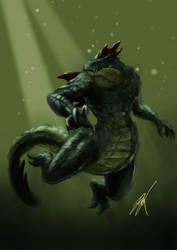 Pokemon - Feraligatr by TheStink411