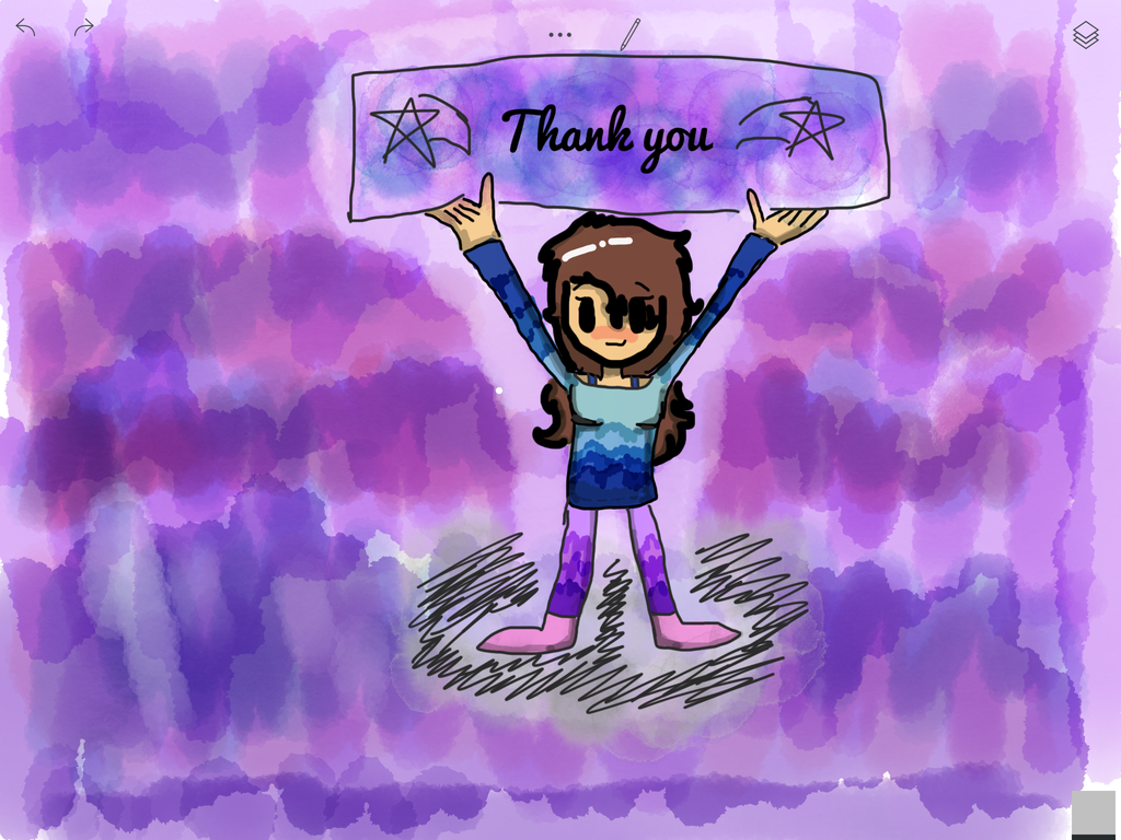 Thank you! Step 4- background by Pinkie---Dash