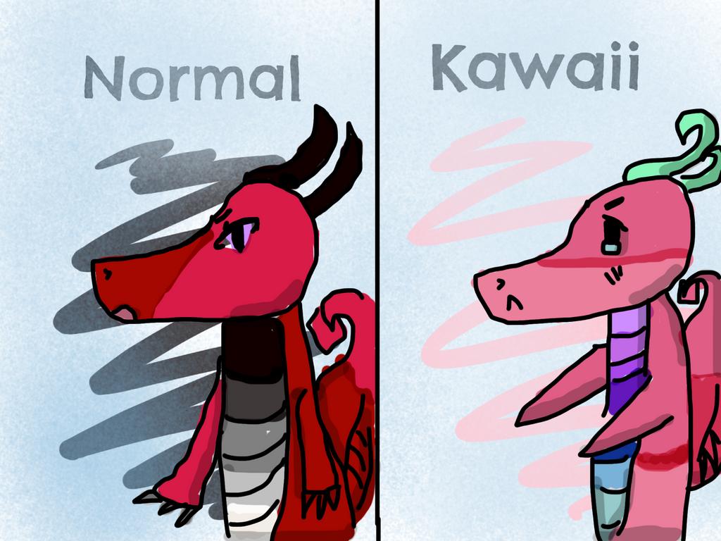 Normal or Kawaii? by Pinkie---Dash