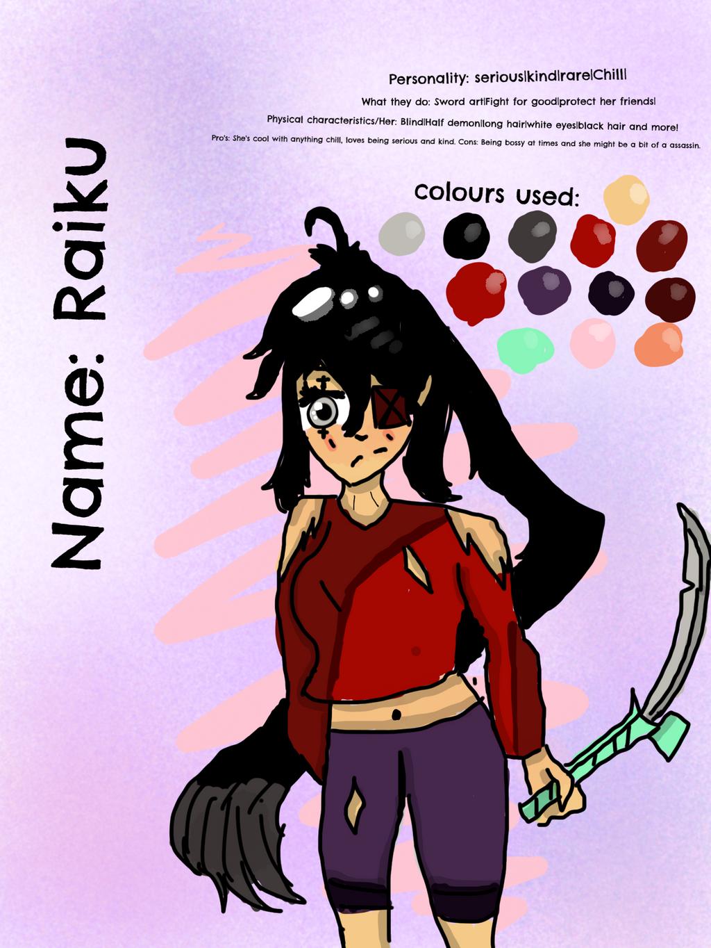 Raiku Sharp (the character) Read Desccription---- by Pinkie---Dash