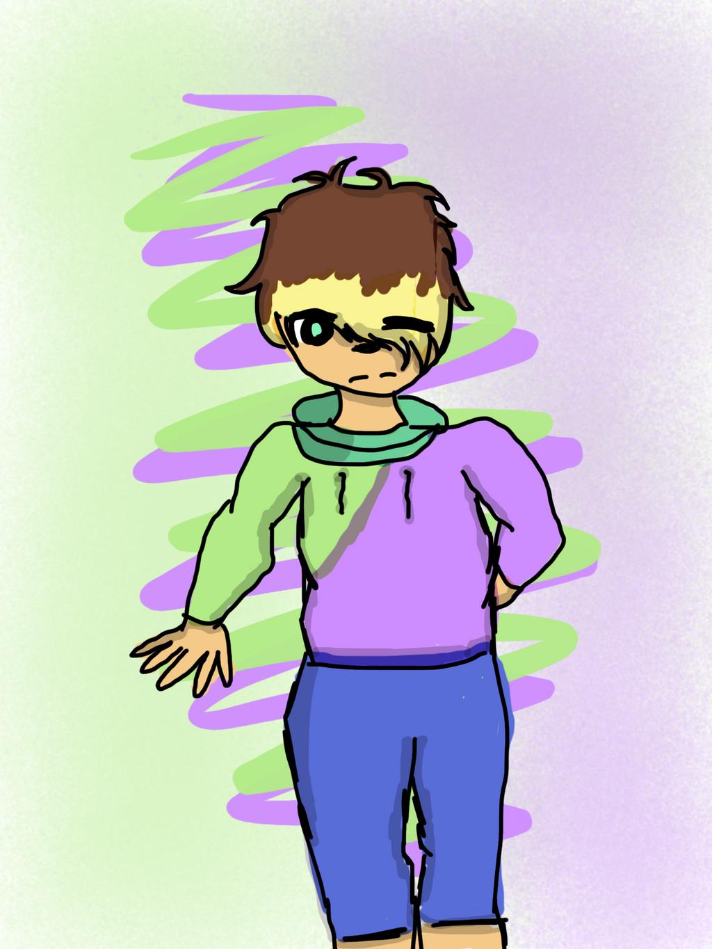 Anime boy: green or purple?  by Pinkie---Dash