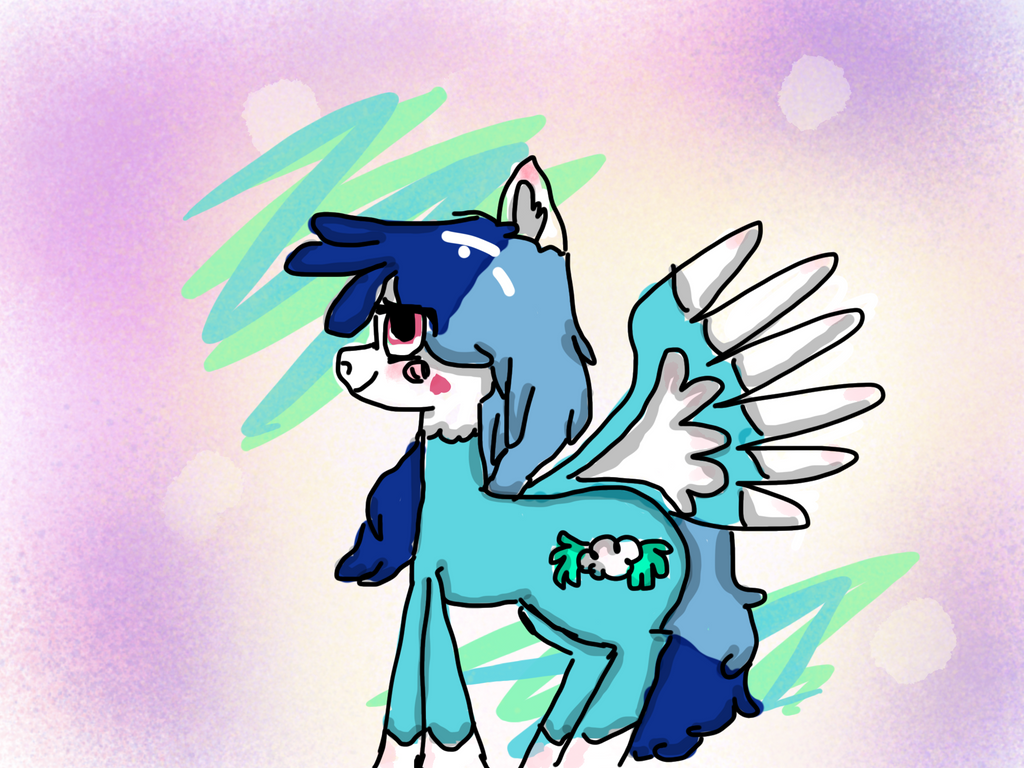 .:Art Trade:. (Cloudy wing) by Pinkie---Dash