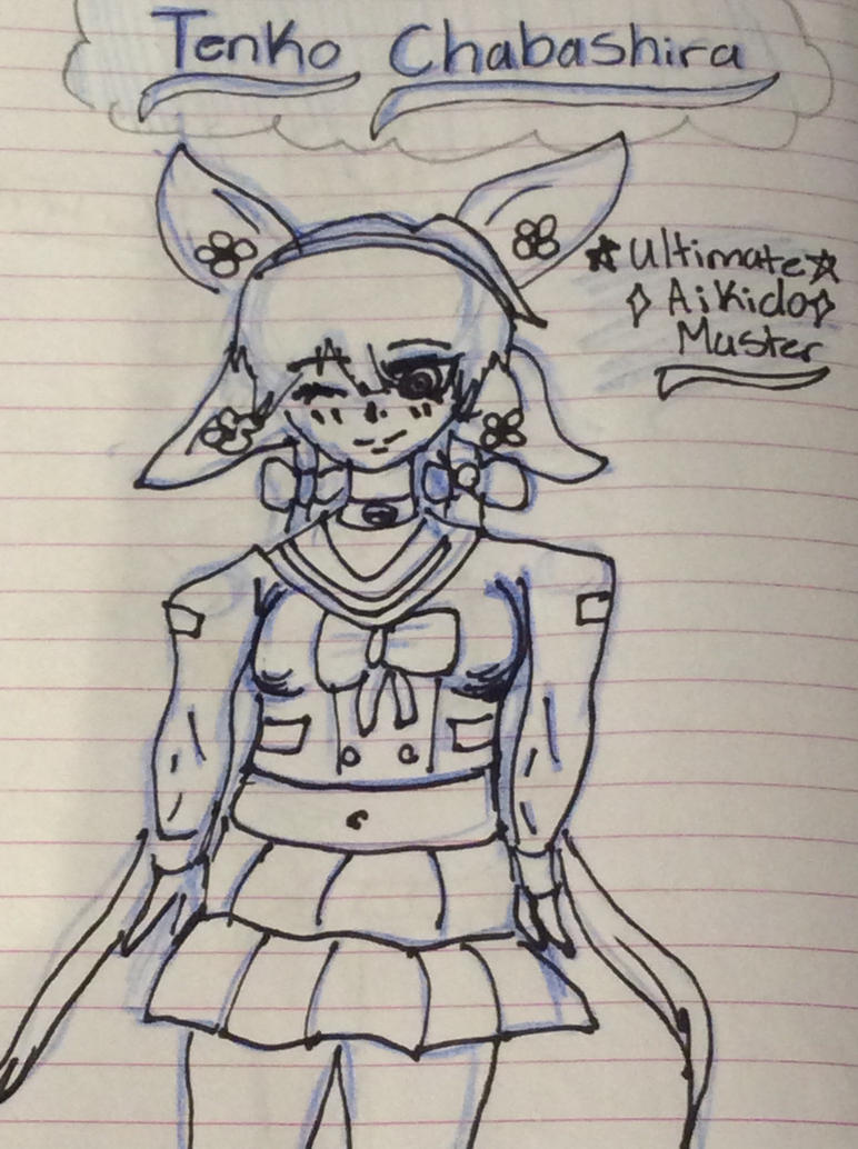 At home doodles (4) Tenko Chabashira by Pinkie---Dash