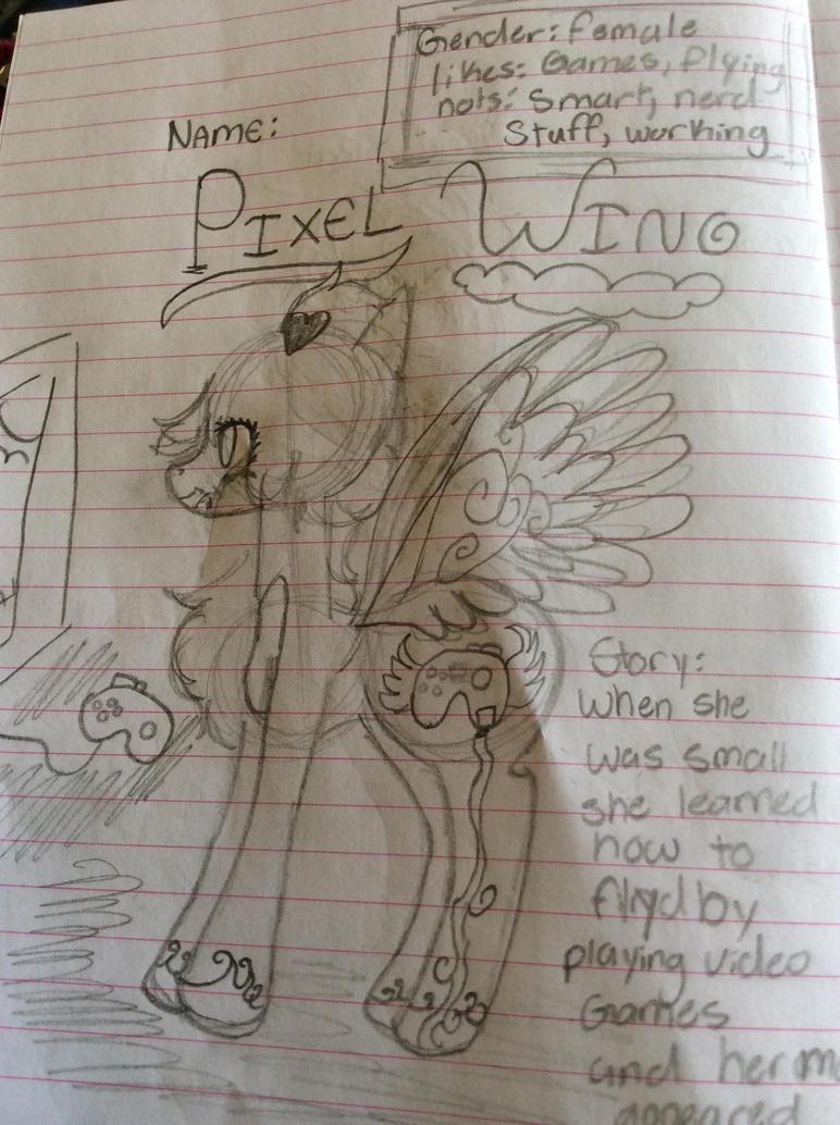 Pixel Wing (Maxxgirls Oc) Read DESC--- by Pinkie---Dash
